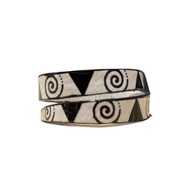 Deco Inspired Spiral Ring
