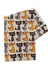 TTV USA Cats & Dogs Tea Towel