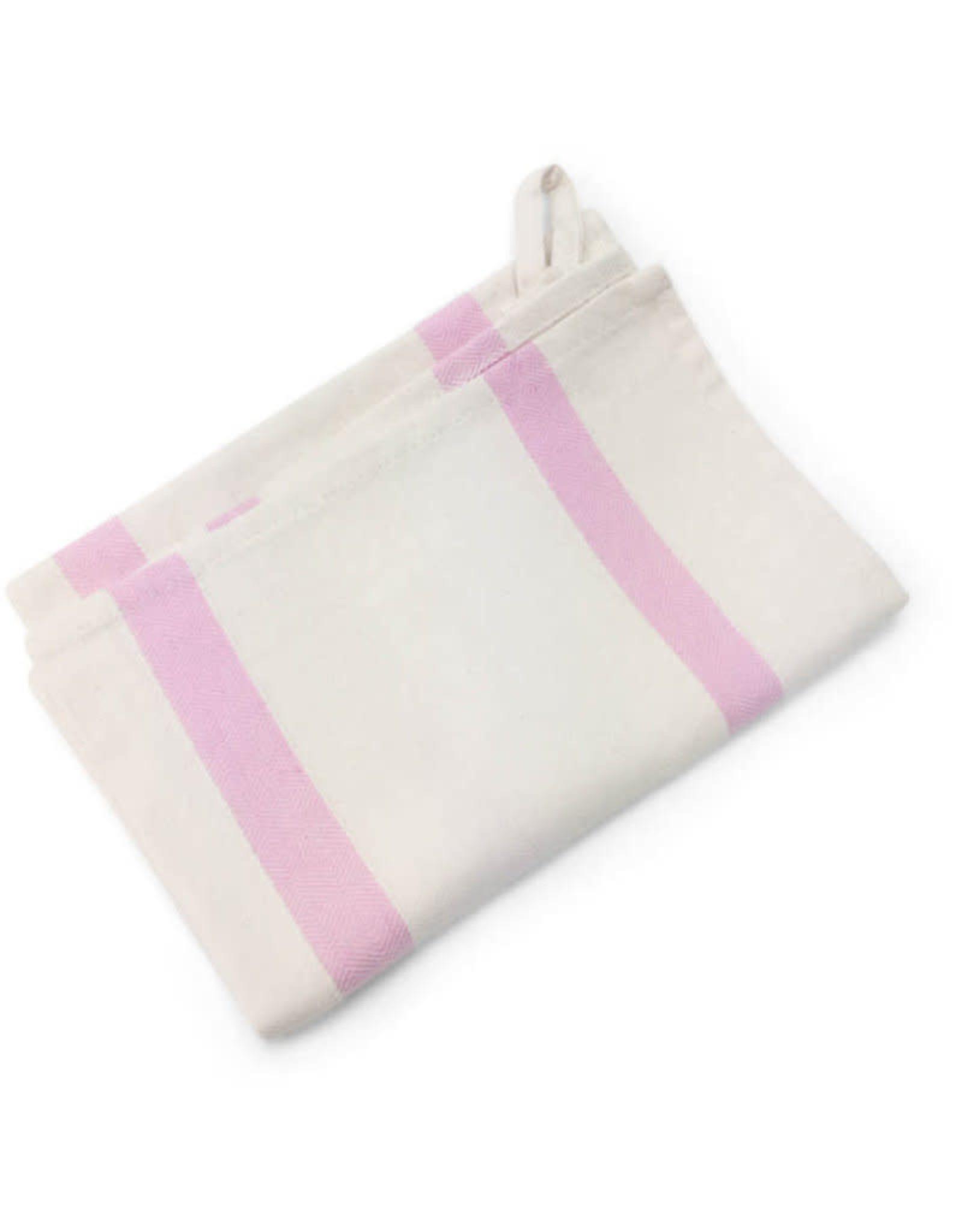 Pink Striped Tea Towel