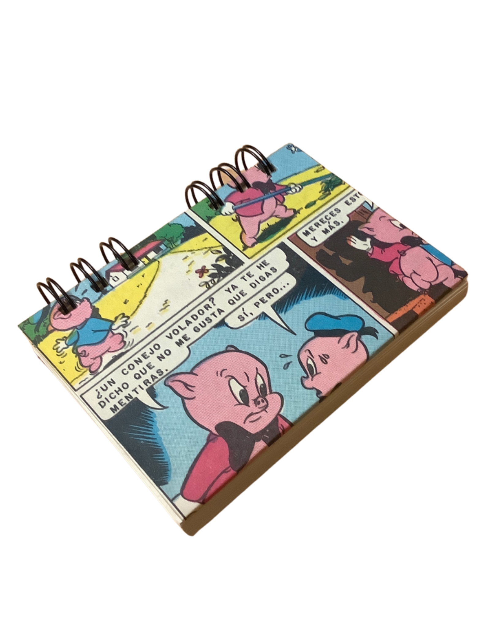Porky Pig Recycled Comic Notebook
