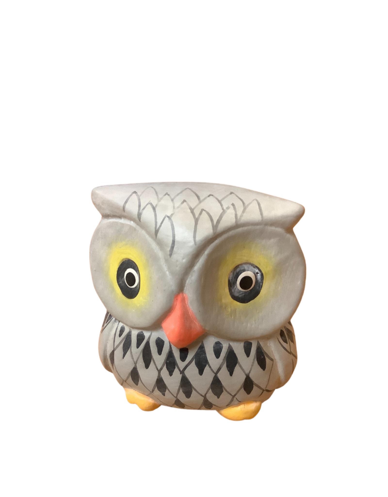 Wise Guy Grey Owl Sculpture