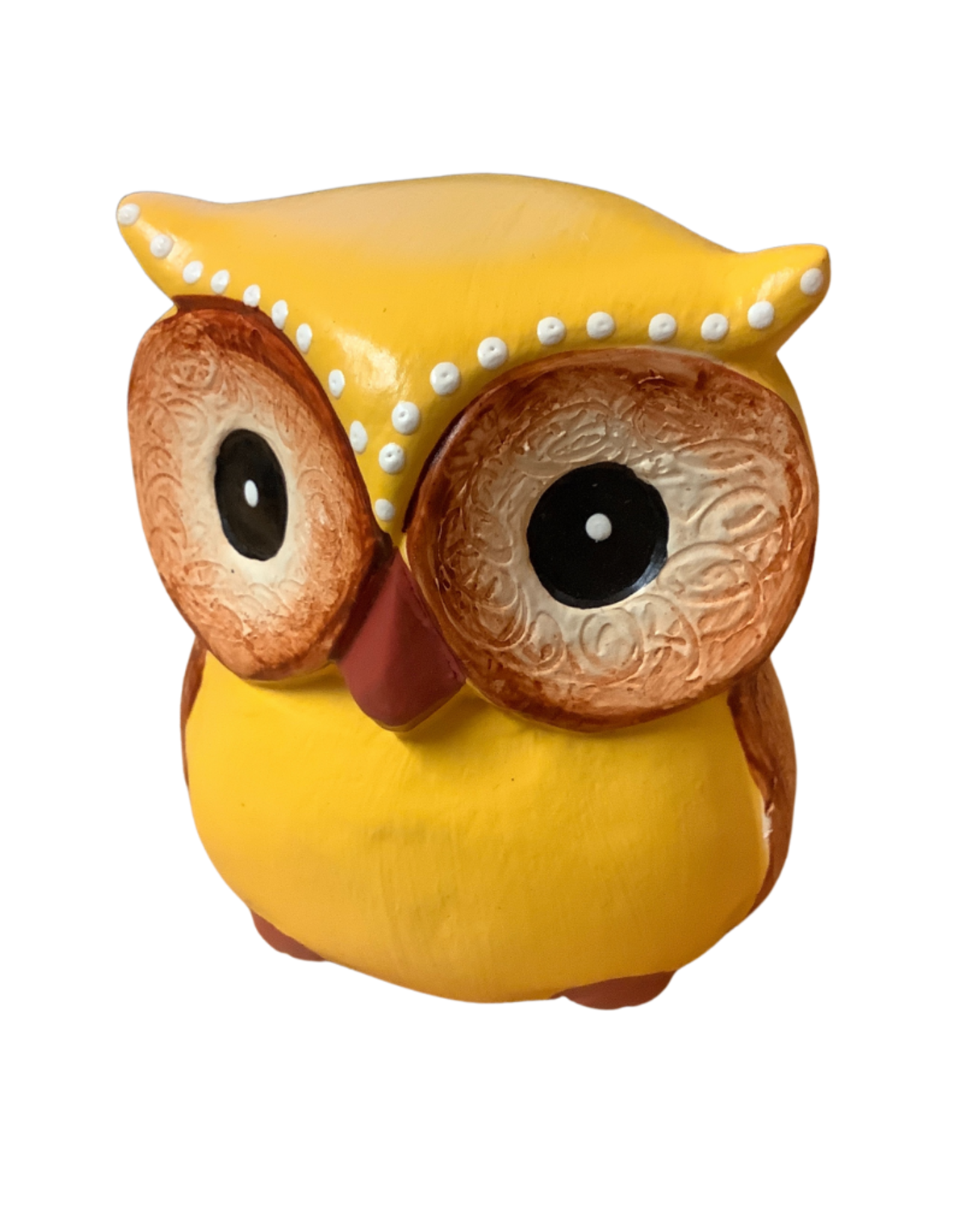Wise Guy Yellow Owl Sculpture