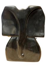 Black Kisii Stone Elephant Sculpture (L)