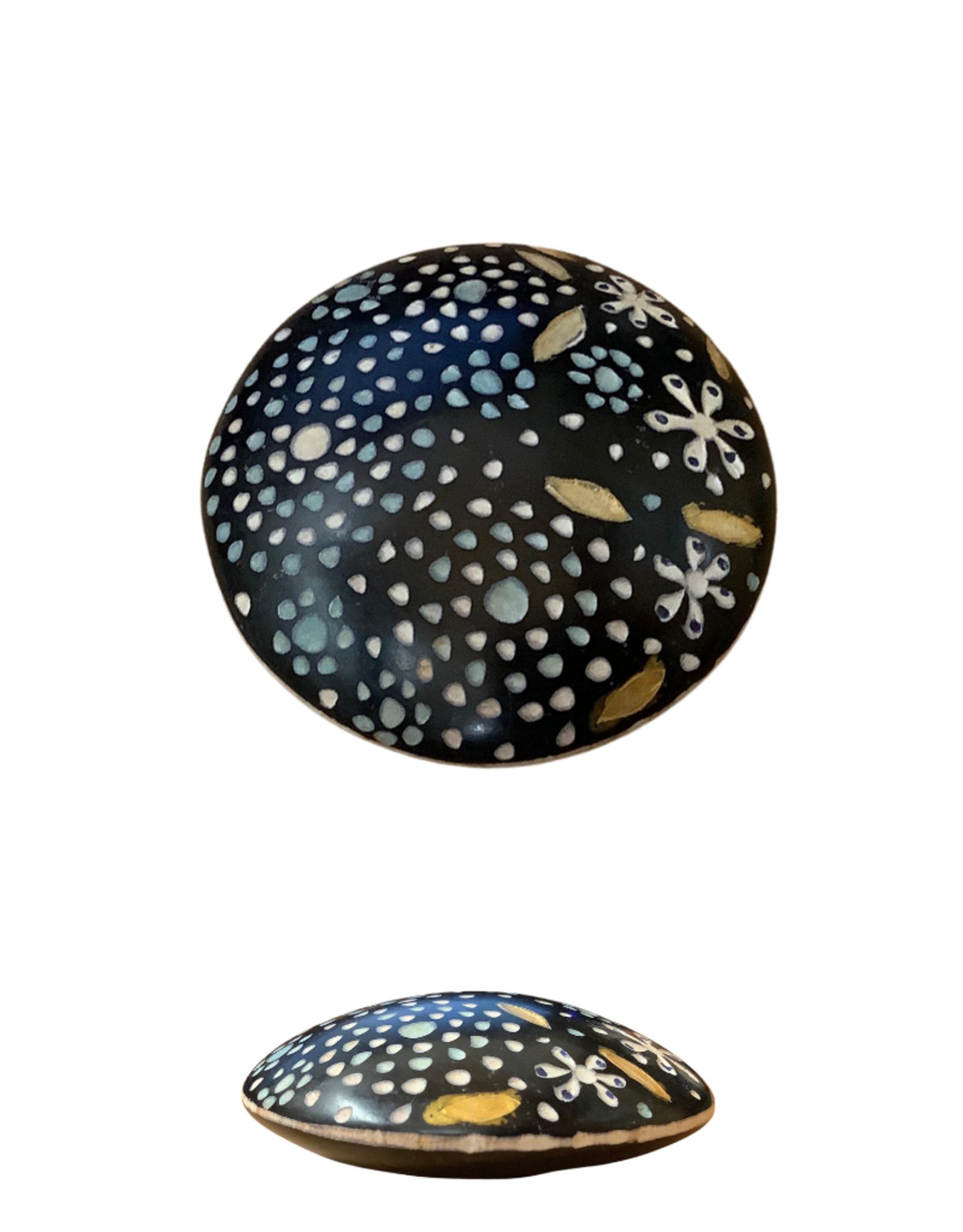 Flower Mandala Kisii Paperweight (Medium)