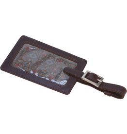 Espresso Leather Luggage Tag