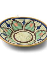 Floral Rafia Coiled Basket