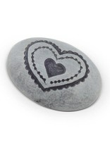 Grey Heart Paperweight
