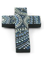 Blue Wooden Cross