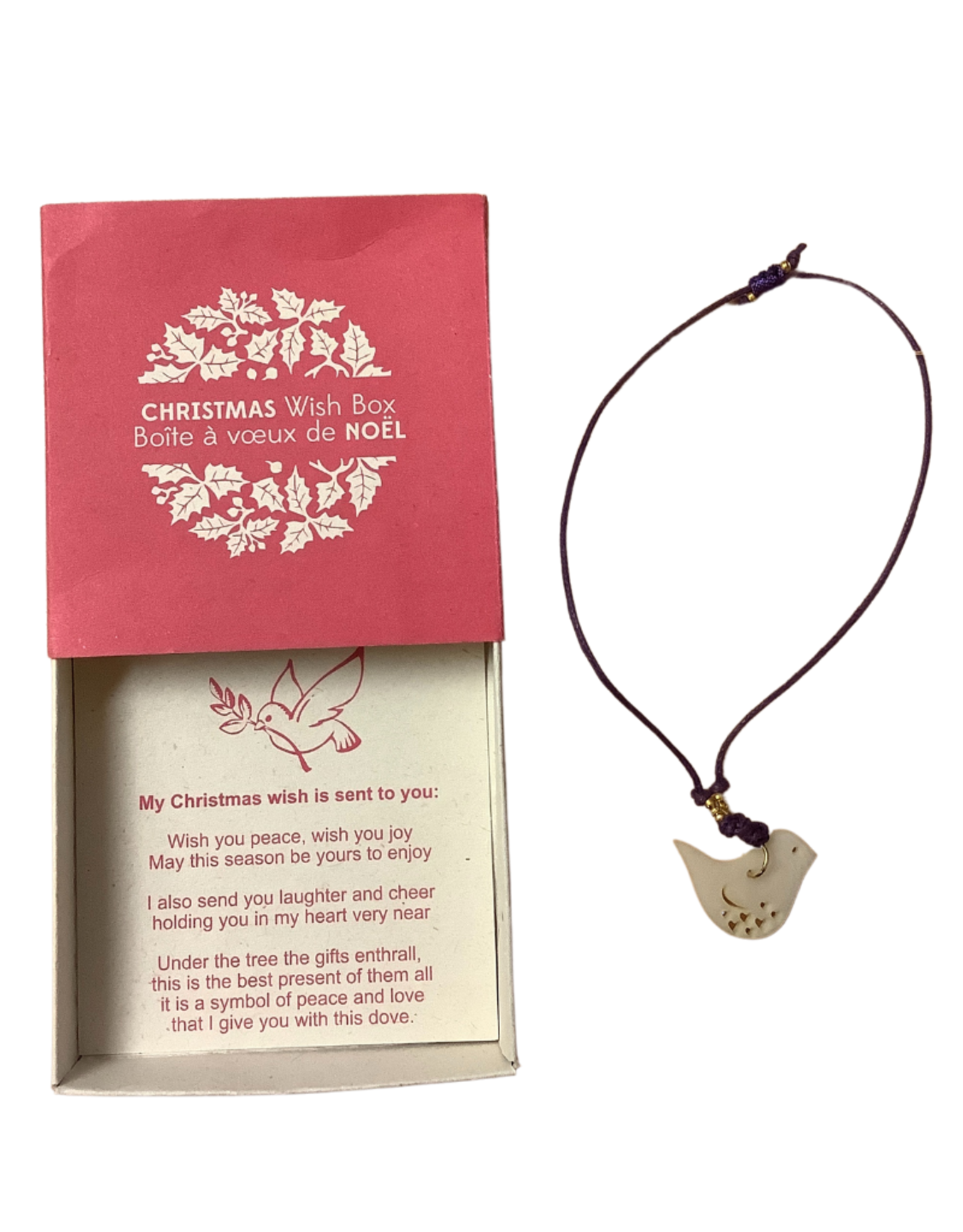 Christmas Wish Dove Bracelet