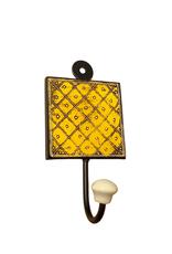 Yellow Medallion Wall Hook - India