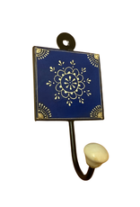 Blue Medallion Wall Hook