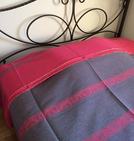 Handwoven Egyptian Cotton Bed / Sofa Cover - Rooster Motif