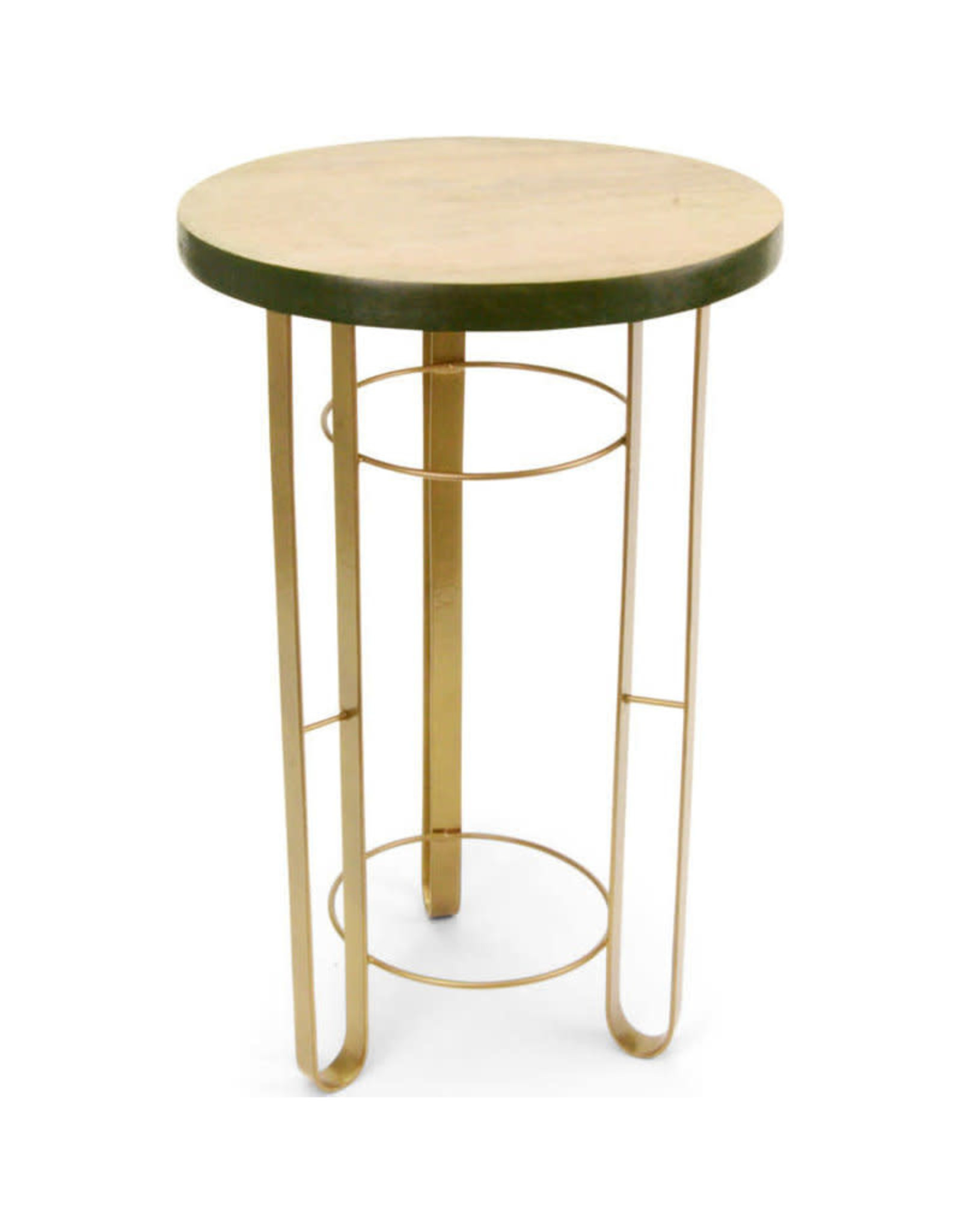 Noah's Ark Table Round 3 Leg Wood/Metal
