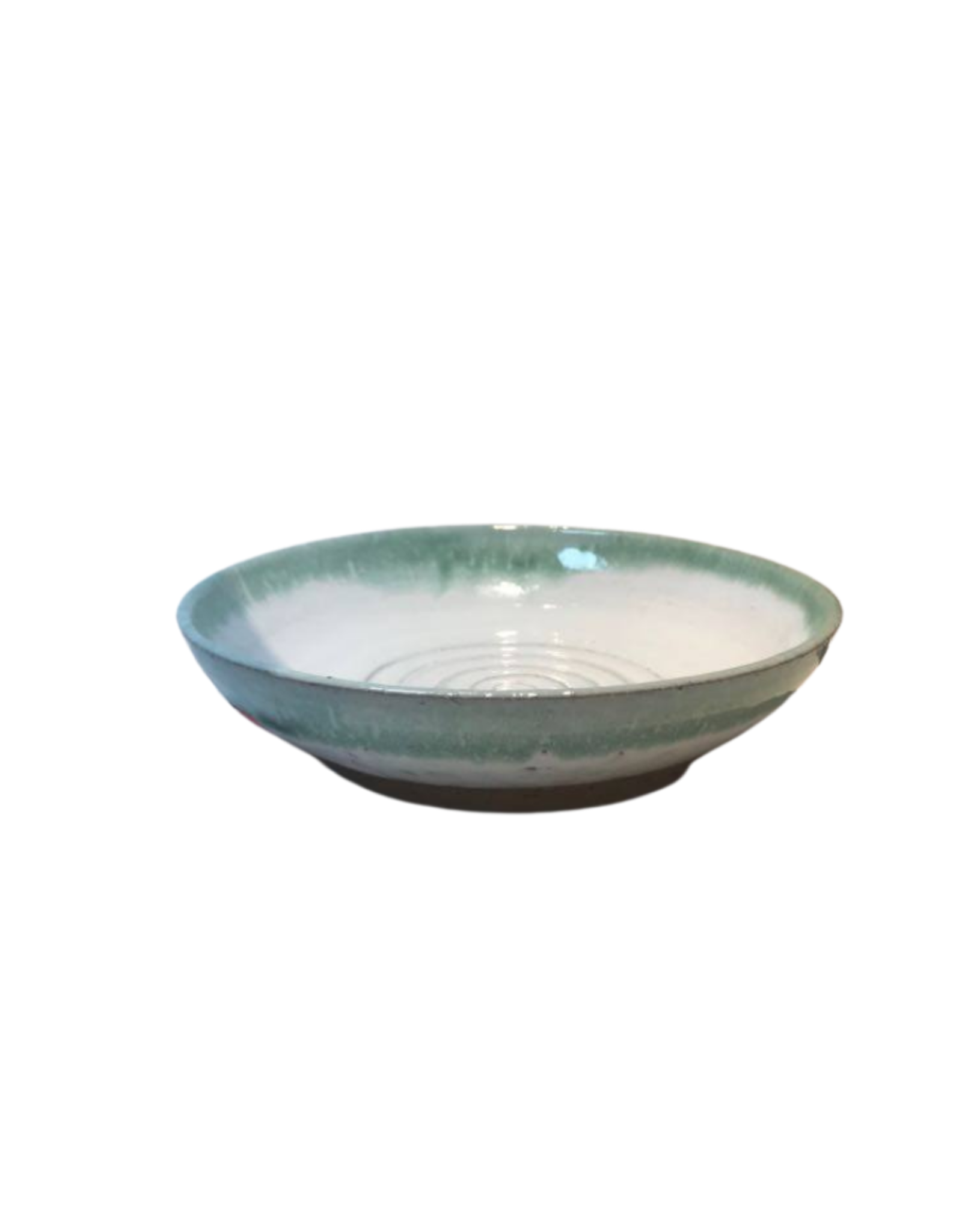 Bowl Ceramic Cream/Green Small