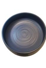 Bowl Salad Hammered Blue Large