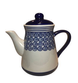 Deep Blue Ceramic Teapot