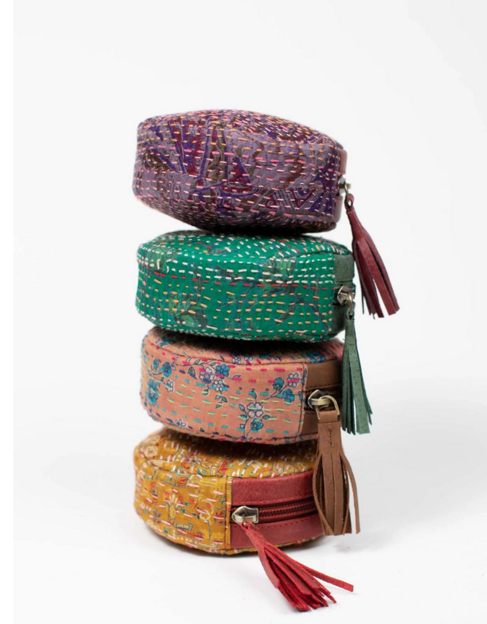 TTV USA Kantha Stitch Drop Bag (Assorted Colours)