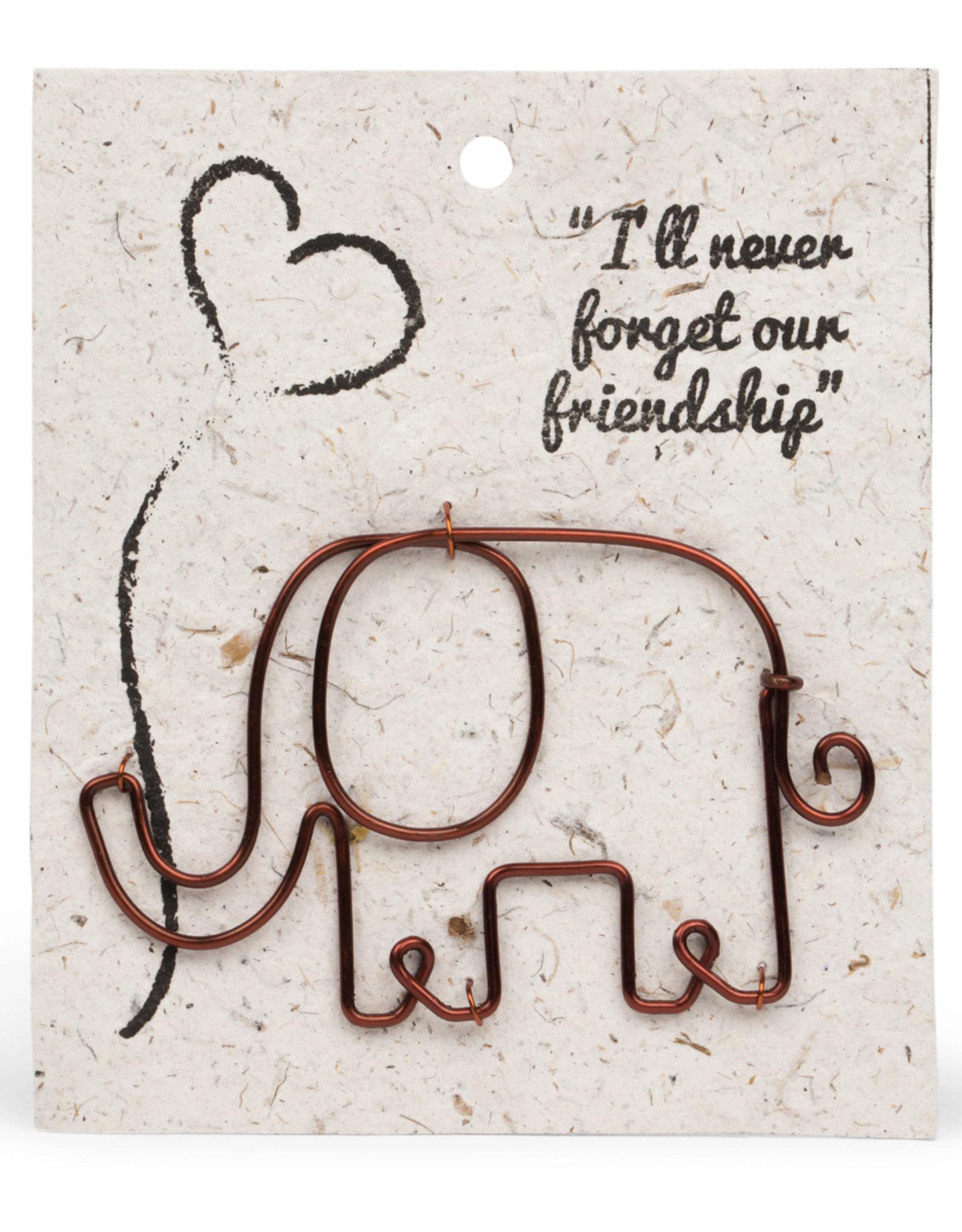 TTV USA Wire Elephant Gift Bookmark