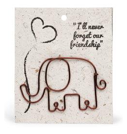 TTV USA Wire Elephant Gift Bookmark - Kenya