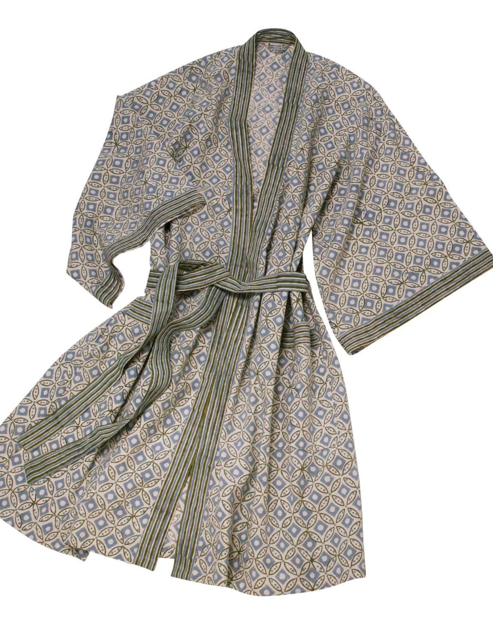 TTV USA Rajasthan Block Print Robe