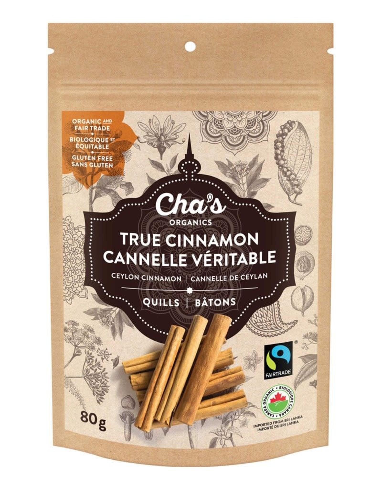 Cha's Organics Cha's True Cinnamon Quills 80g