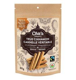 Cha's Organics Cha's True Cinnamon Quills 80g - Sri Lanka