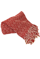 Red Jacquard Throw