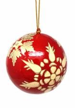 Global Crafts Ornament, Handpainted Gold Snowflakes