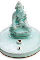 Global Crafts Incense Burner, Celadon Buddha