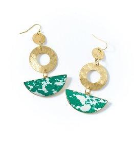 Global Crafts Earrings, Ria Green Slice