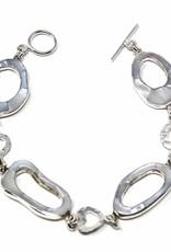 Global Crafts Bracelet, Mother of Pearl Link