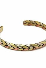 Global Crafts Bracelet Cuff, Copper and Brass Healing Trinity