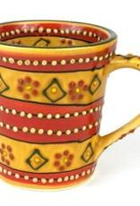 Global Crafts Mug, Coffee Flared Red