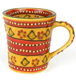 Global Crafts Mug, Coffee Flared Red