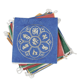 Global Crafts Prayer Flag, Lotus Paper 8' long