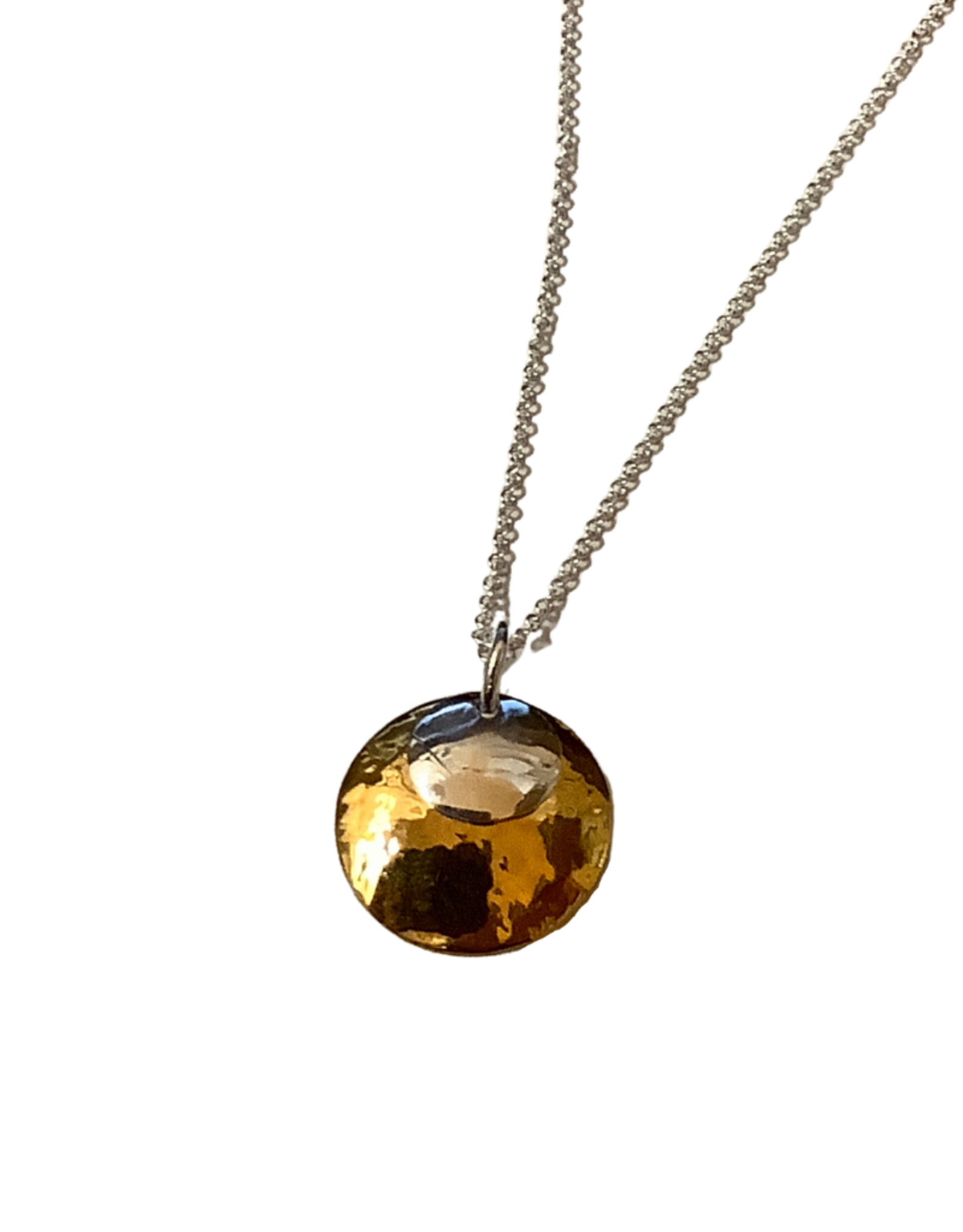 TTV USA Necklace, Duet Silver & Gold Plt