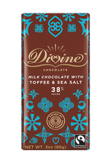 Divine Chocolate Divine Milk Chocolate with Toffee and Sea Salt 38% Cocoa