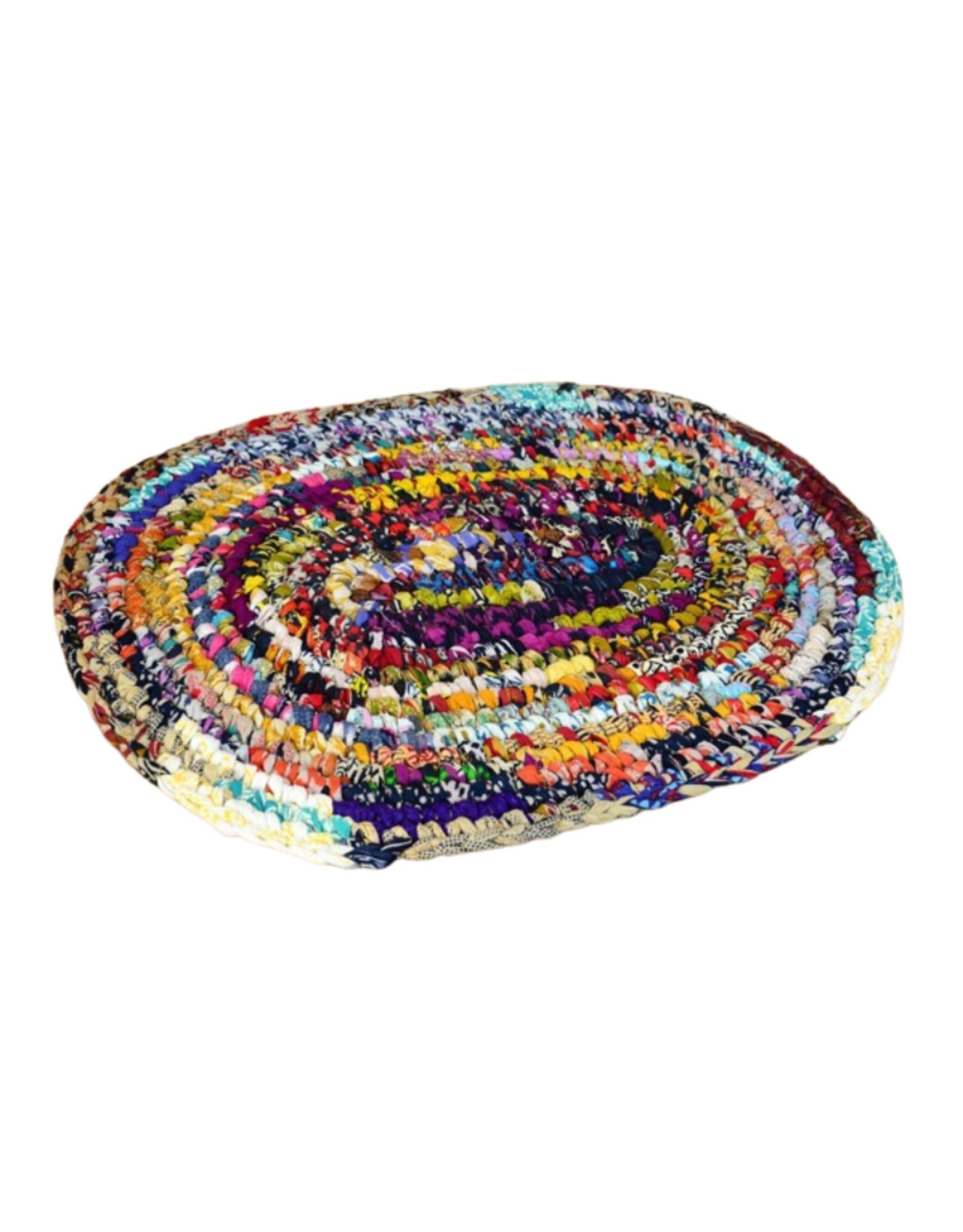 Minga Rug Sari Cotton Oval (S)