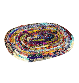 Minga Rug Sari Cotton Oval (S)
