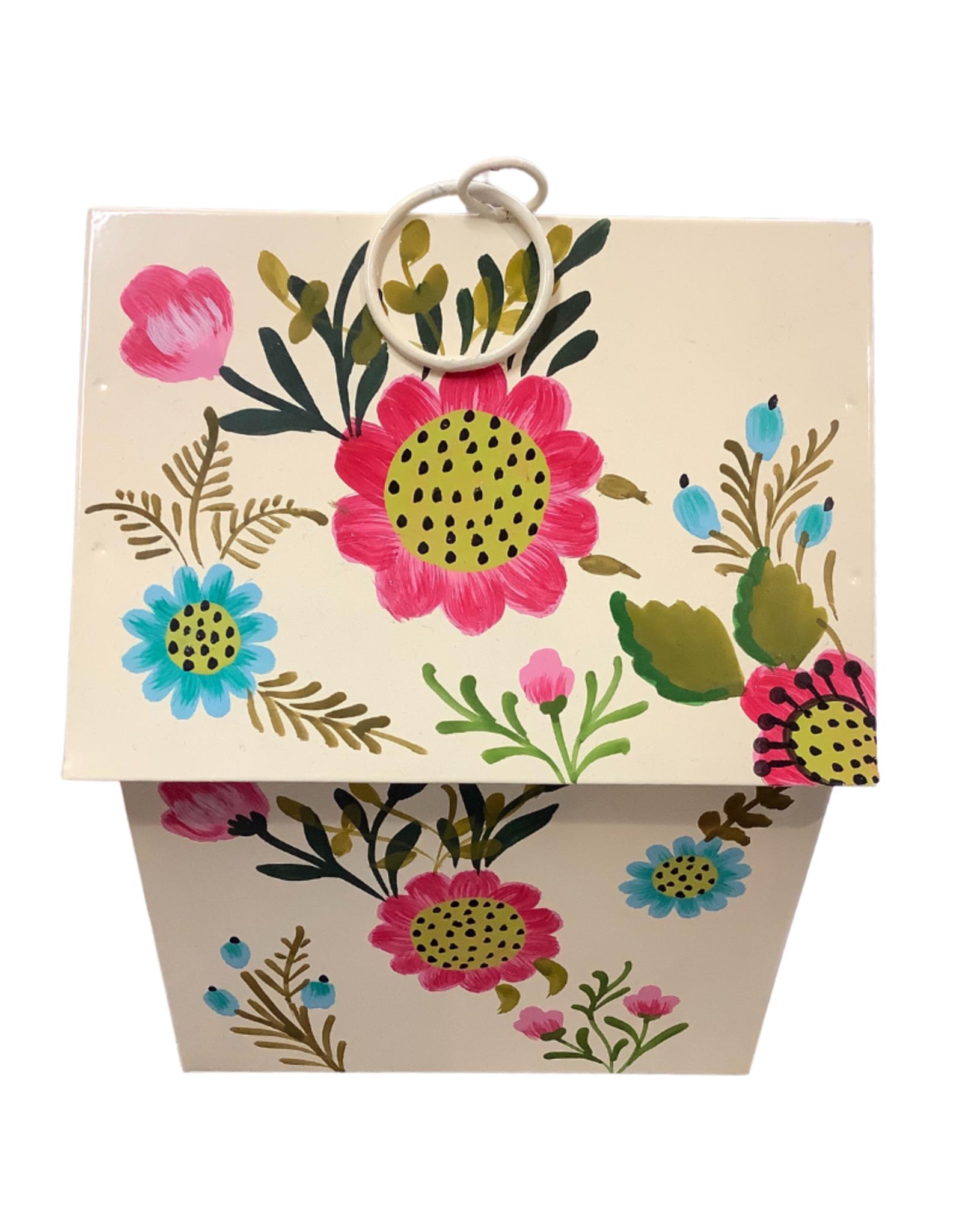 Birdhouse Meetal White/Bright Floral