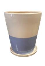 Sky Blue Bottom Ceramic Planter