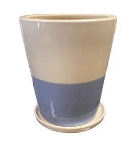 Sky Blue Bottom Ceramic Planter
