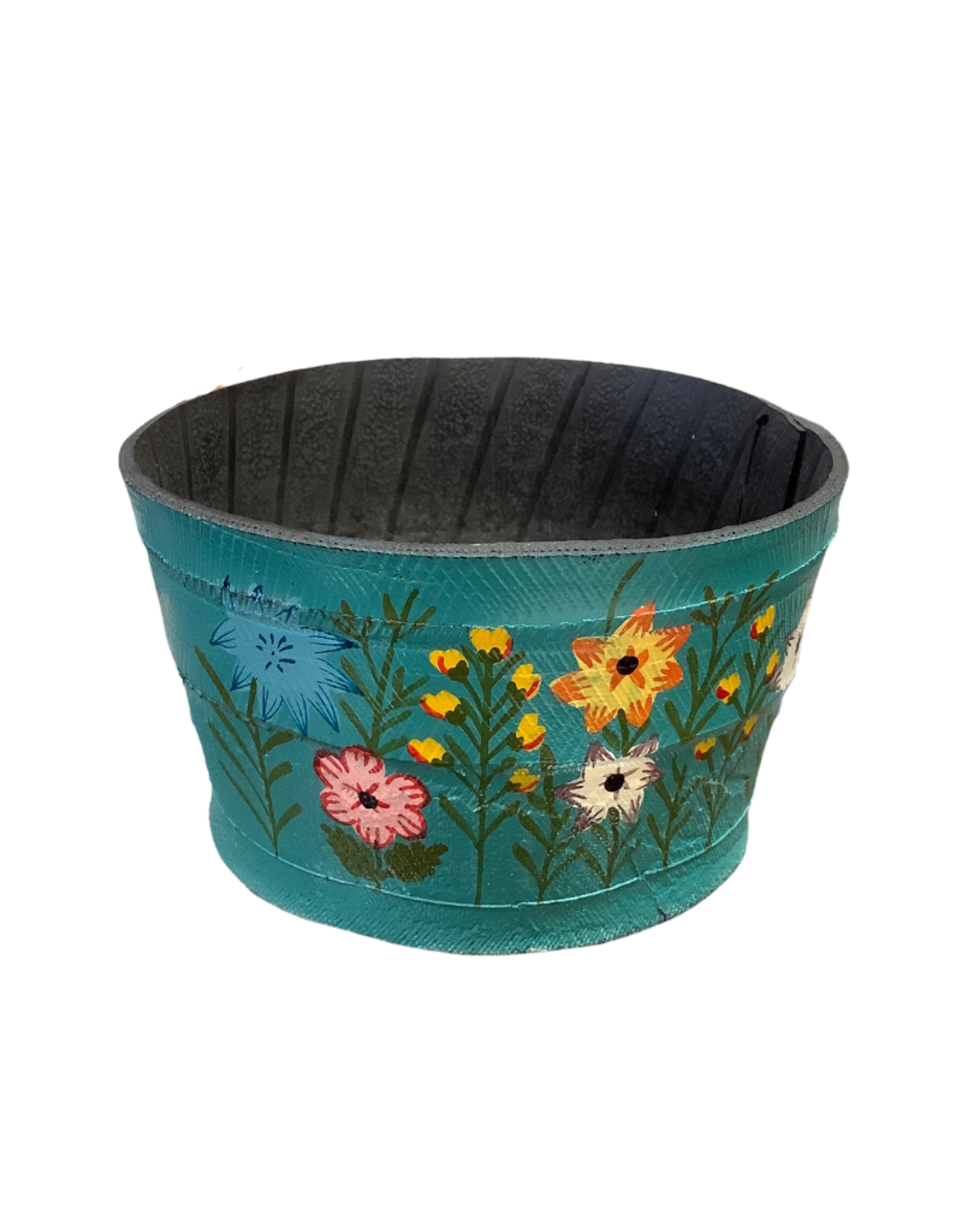 Recycled Tire Garden Planter Turquoise