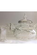Dandarah Teapot Handblown Glass with Warmer - Leaves
