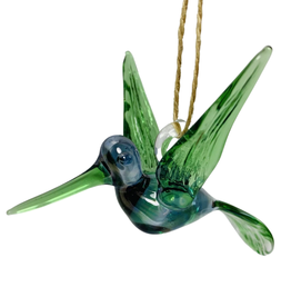 Dandarah Hummingbird Handblown Glass - Blue&Green
