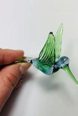 Dandarah Hummingbird Handblown Glass - Blue&Green