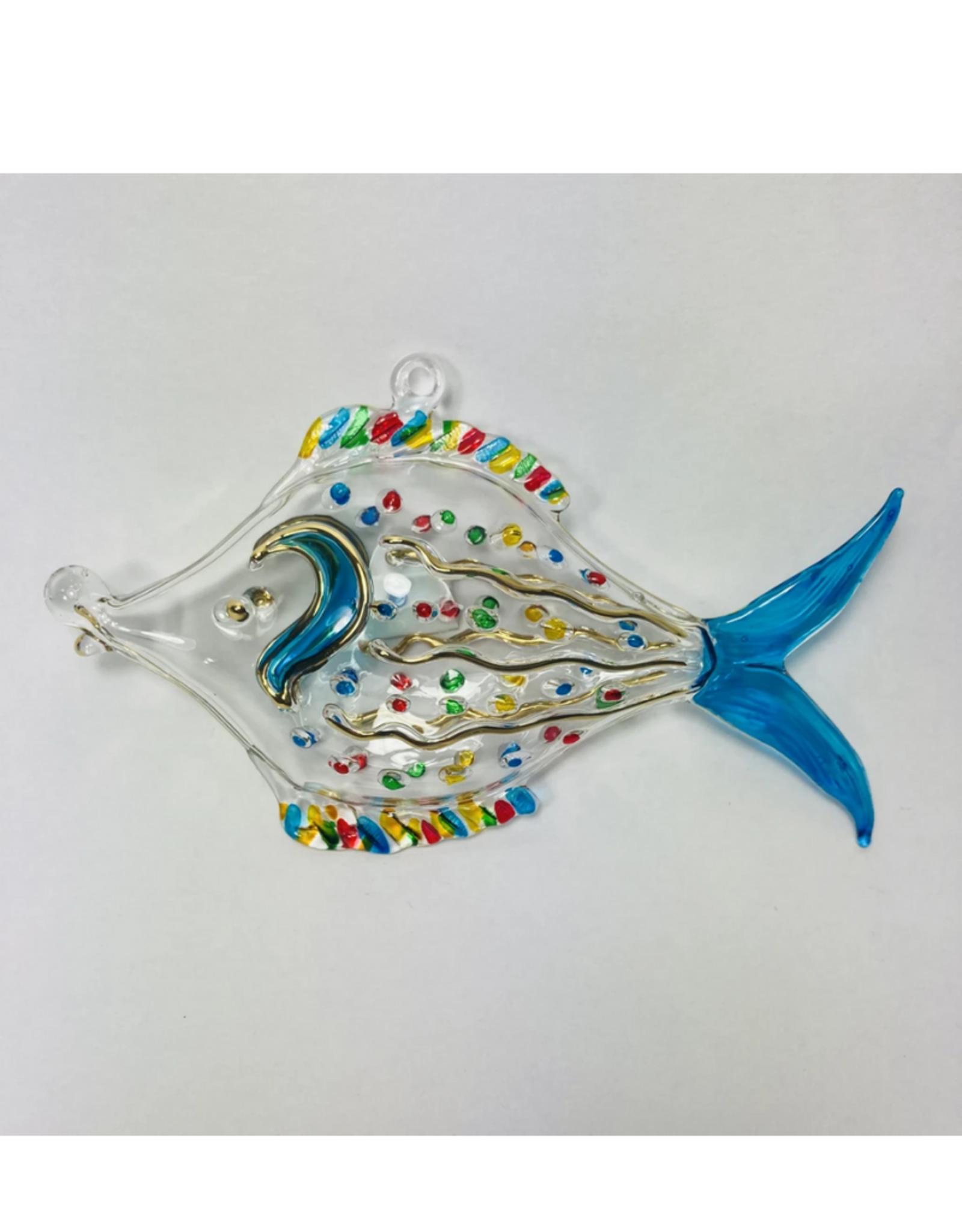 Dandarah Fish Handblown Glass, Dotted