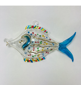 Dandarah Fish Handblown Glass, Dotted