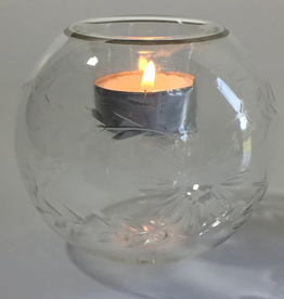 Dandarah Candleholder Handblown Glass - Flowers