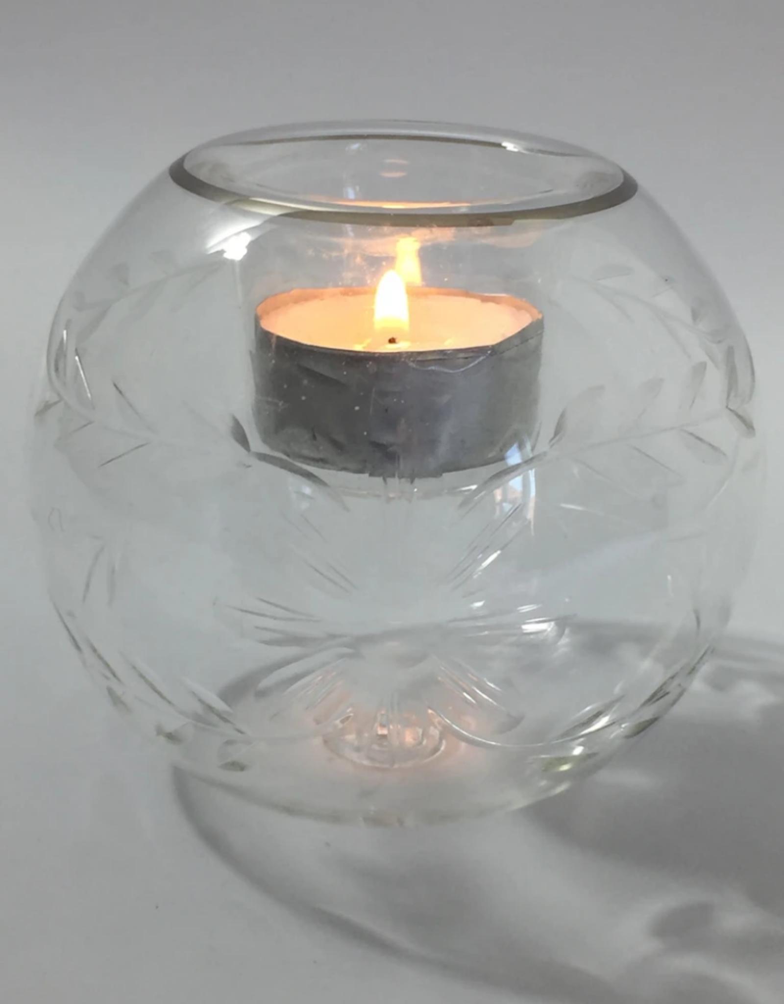Dandarah Candleholder Handblown Glass - Flowers